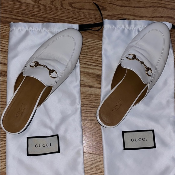 Gucci Shoes | Gucci White Loafer Slides